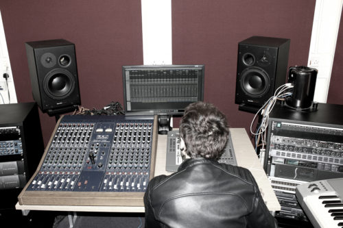 Working in the studio at Southampton Solent University